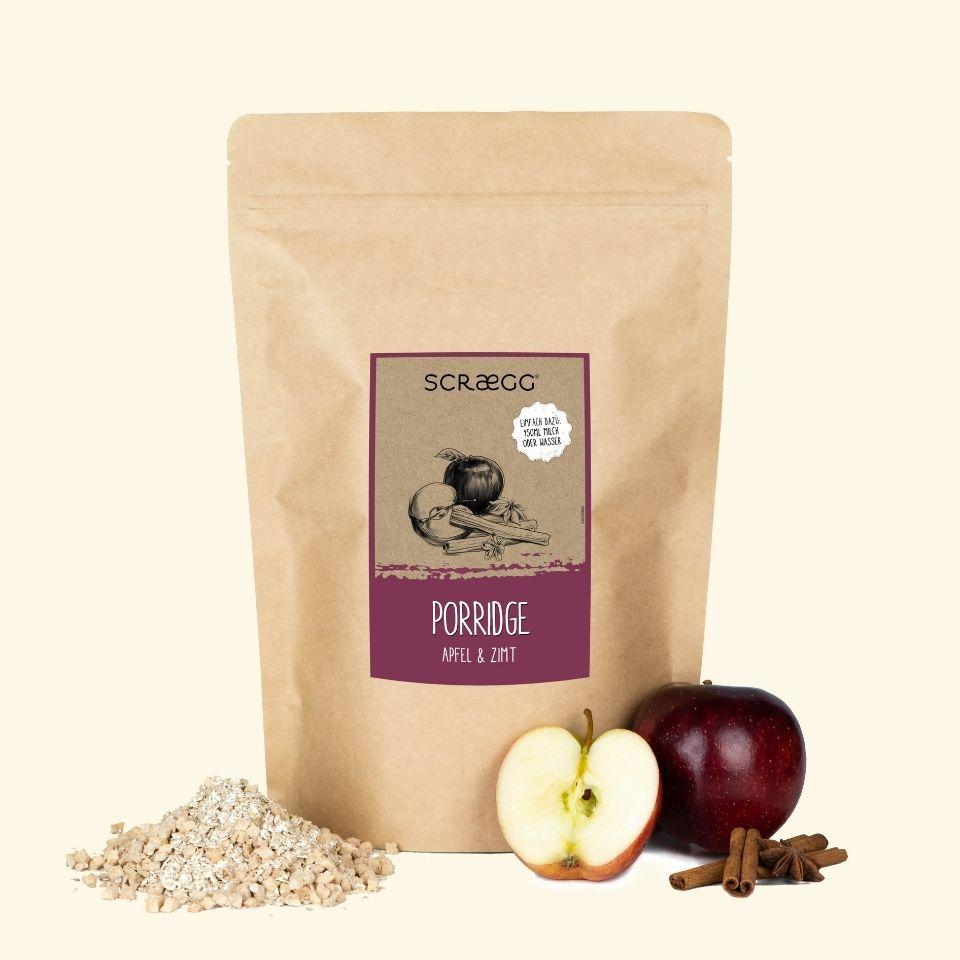 SCRAEGG Apfel Zimt Porridge in der 850g Packung