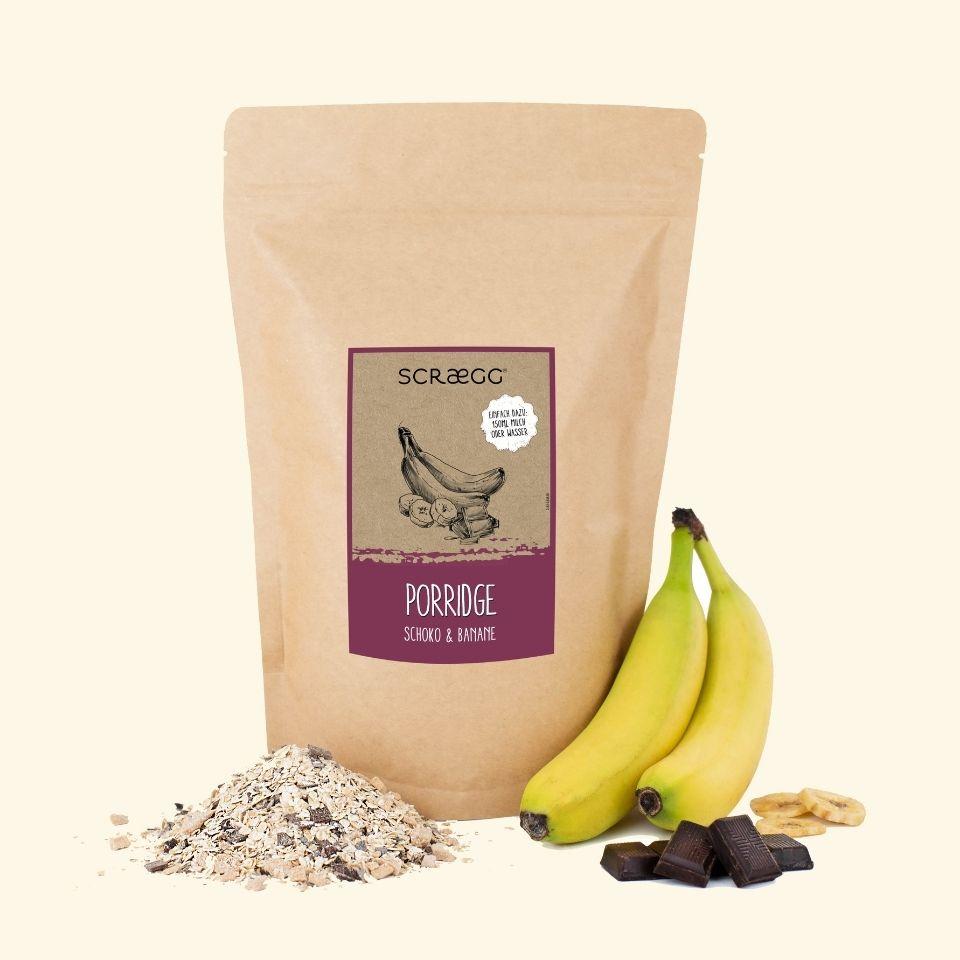 Porridge Schoko und Banane 850g SCRAEGG